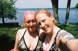 two women photo by canadian lake