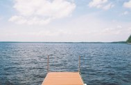 view of lake from pontoon canada