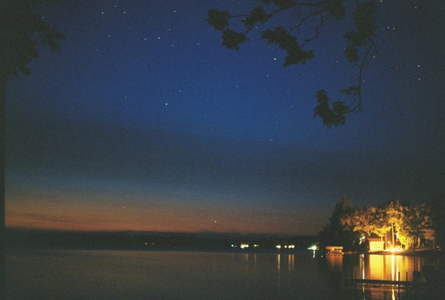 Starry night on the lake