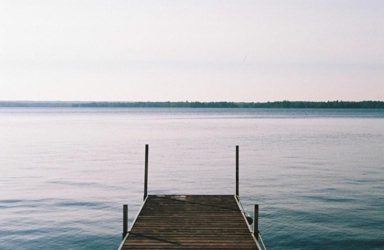 Canadian lake pontoon daytime